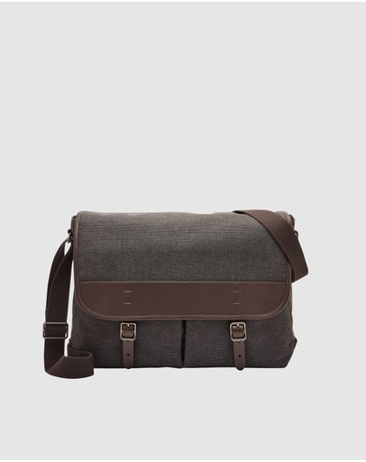 Fossil - Buckner Black Messenger Bag