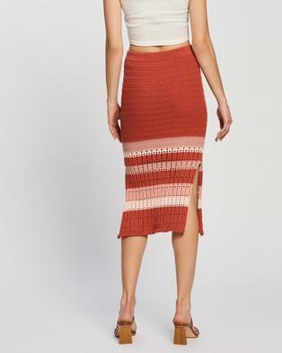 Atmos&Here Koko Cotton Knit Skirt - Pencil skirts (Rust)