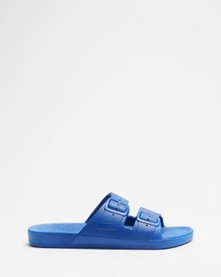 Freedom Moses Slides   Unisex - Casual Shoes (Blue)