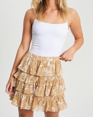 Tussah Cayleigh Skirt - Skirts (Raindrop Spot Tan)