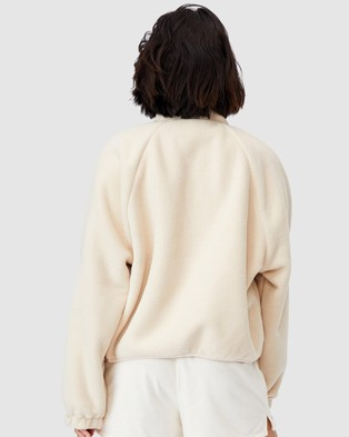 Cotton On Body Active Warm Up Sherpa Jacket - Coats & Jackets (Natural)
