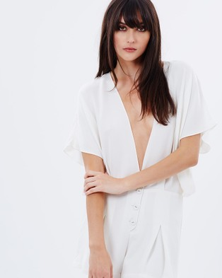 S. WALLIS – Holiday Playsuit – Jumpsuits & Playsuits White