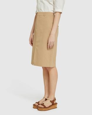 Oxford Deana Cotton Pencil Skirt - Pencil skirts (Brown)