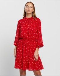 Michael Kors - Signature Logo Smock Dress