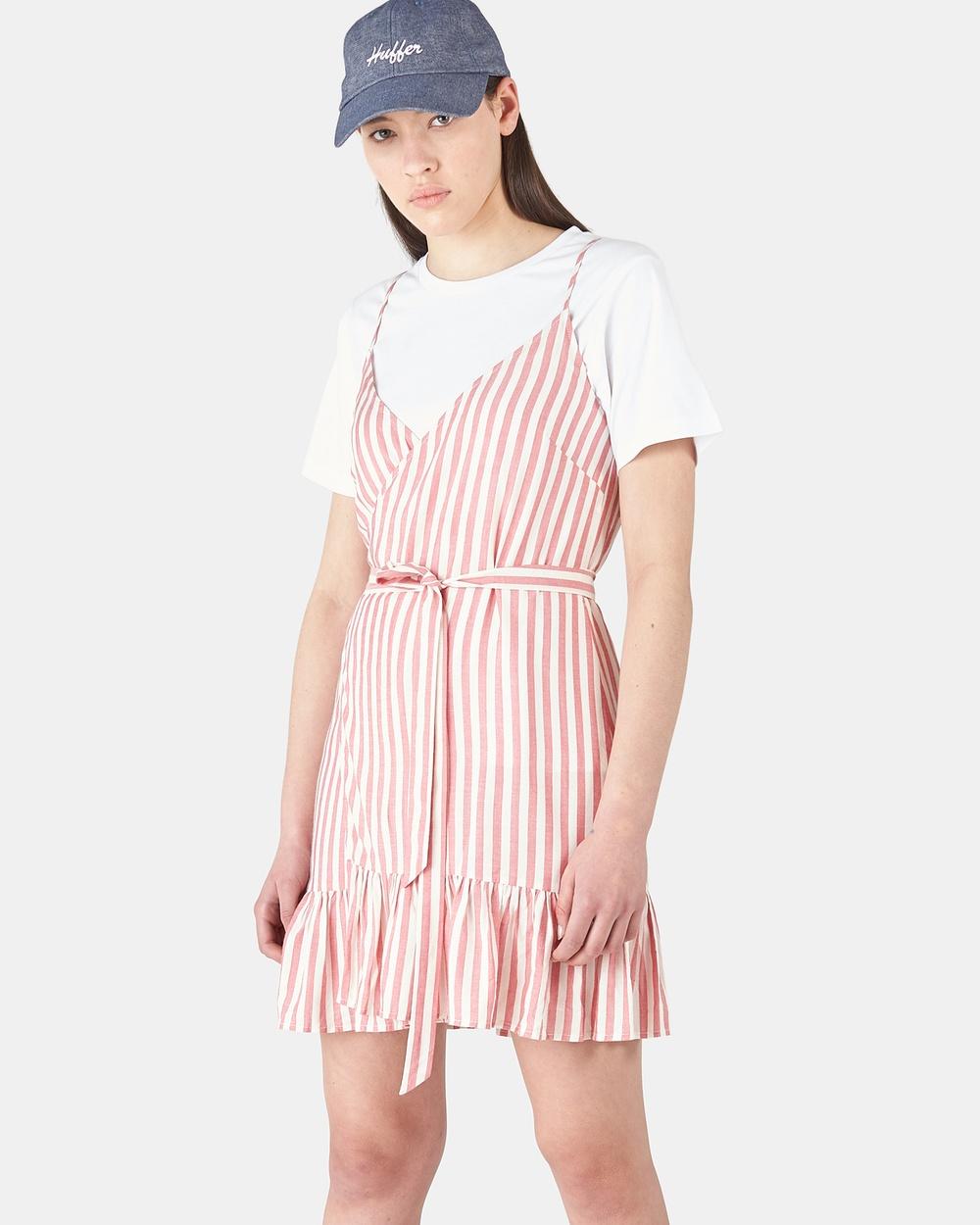 Huffer RED Farrow Wrap Dress