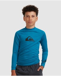Quiksilver - Boys 8-16 All Time Long Sleeve UPF 50 Rash Vest