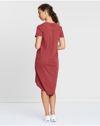 Silent Theory Twisted Tee Dress Red