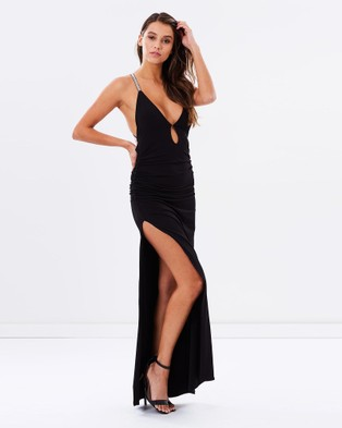SKIVA – Cross Strap Evening Dress