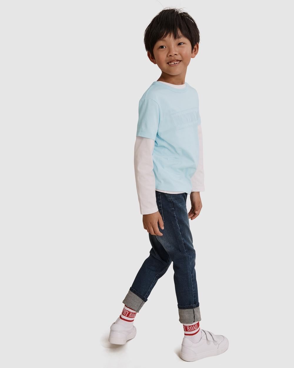 Country Road Verified Australian Cotton Heritage T shirt T-Shirts & Singlets blue T-shirt Australia