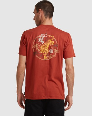 Element Tiger Palm Short Sleeve Tee - T-Shirts & Singlets (PICANTE)