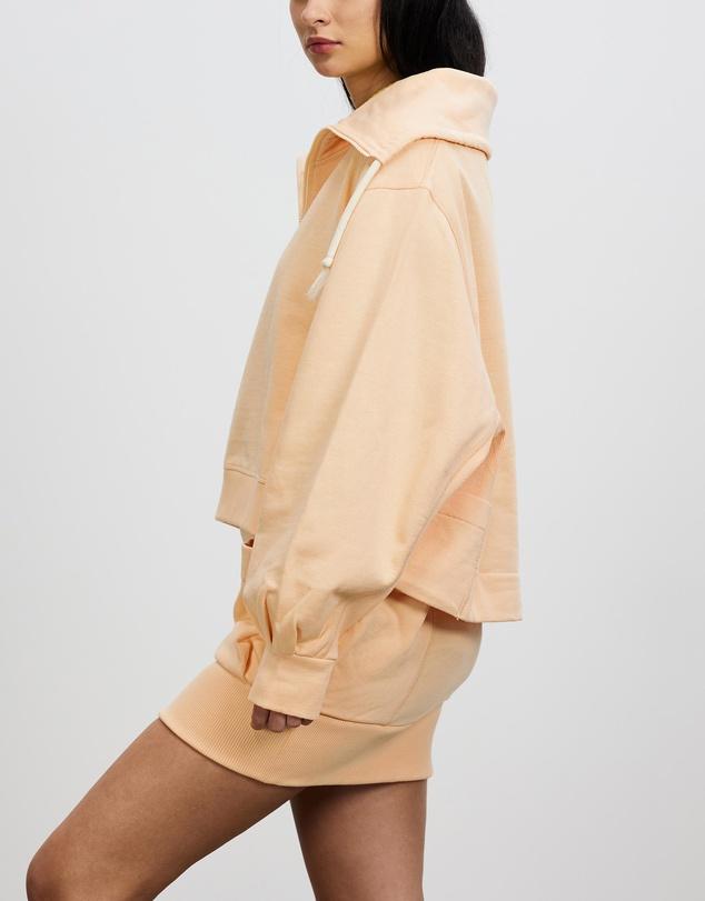 Women Zipped Boxy Sweatshirt