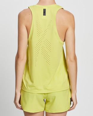 Reebok Performance United By Fitness Perforated Tank - Muscle Tops (Chartreuse)