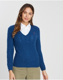 Polo Ralph Lauren - Kimberly Cable Knit V-Neck Sweater
