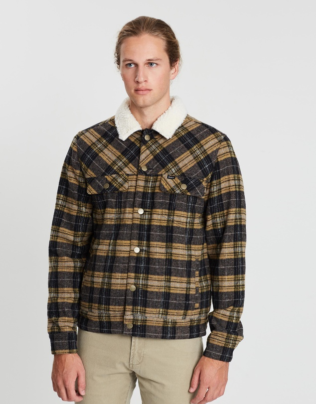 cac3a6743 Daggers Plaid Sherpa Jacket