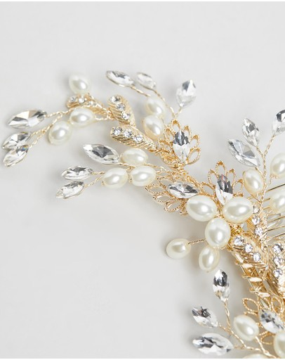 Ivory Knot Willa Hair Clip Gold