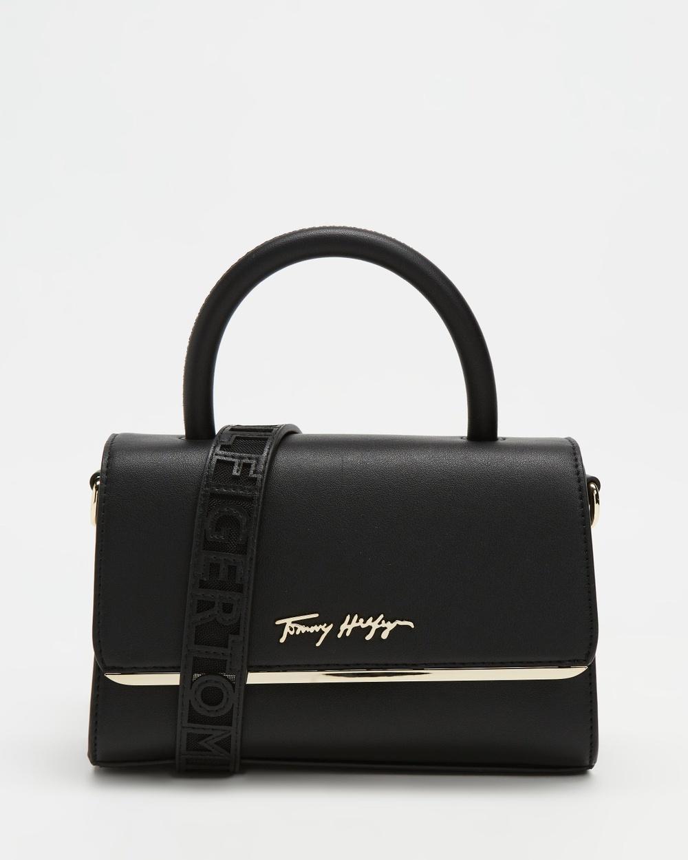 Tommy Hilfiger Modern Crossover Bar Bag Handbags Black
