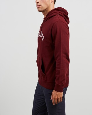 Carhartt Hooded University Sweatshirt - Hoodies (Bordeaux & White)