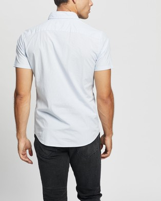 Abercrombie & Fitch Super Slim Poplin Shirt - Casual shirts (White Vertical Stripe)