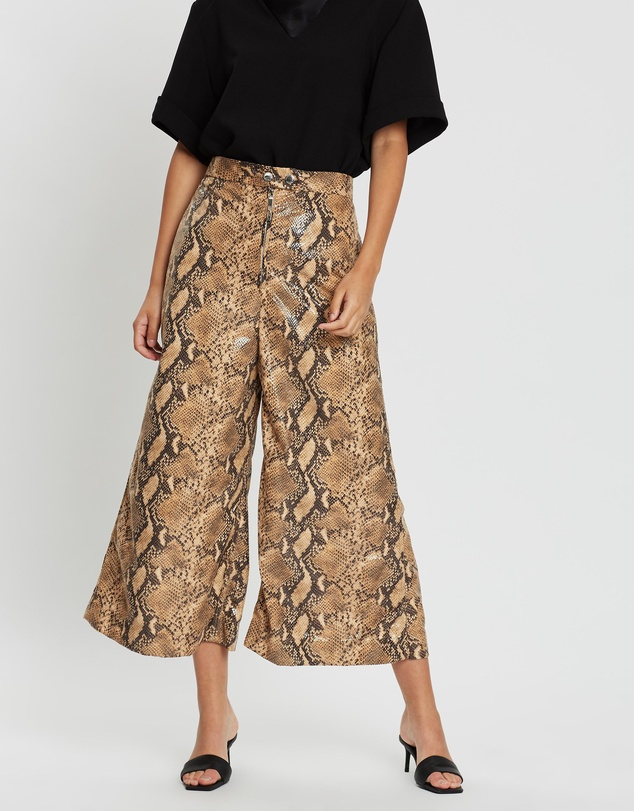 Ellery - Nuance Cropped Pants with Zip Front