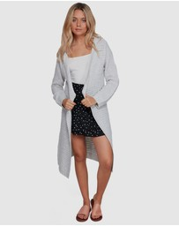 Roxy - Womens Silver Greene District Longline Knit Cardigan