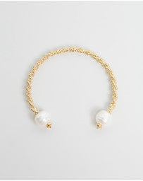 Joanna Laura Constantine - Twisted Bangle With Pearls