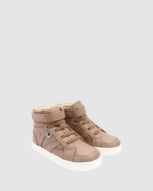 Old Soles Urban Starter Boys Shoes - Boots (Taupe/White)