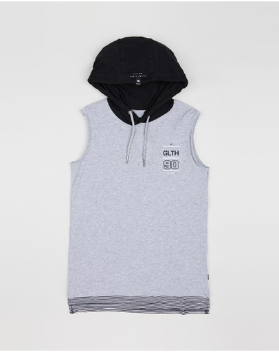 St Goliath Kids - East Hooded Muscle Tank - Teens