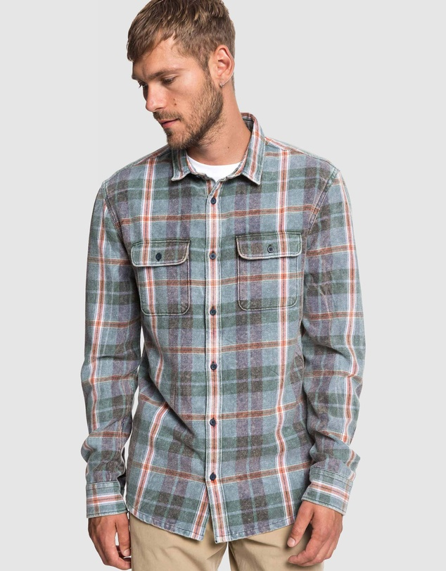 Quiksilver - Mens Super Tang Long Sleeve Flannel Shirt
