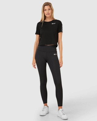 Superdry Sport Gymtech Taped Core Leggings - Sweatpants (Black)
