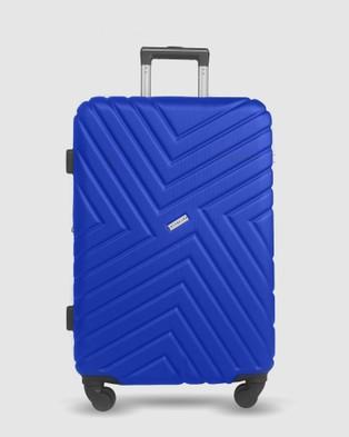 JETT BLACK Royal Blue Maze Luggage Set - Bags (Blue)