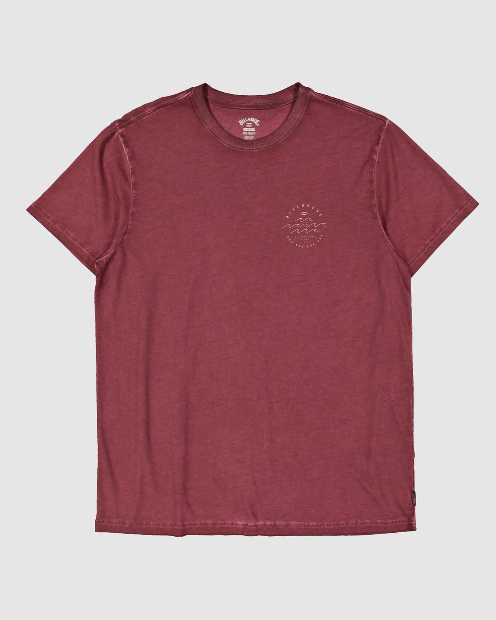 Billabong - Boys Big Wave Dave Short Sleeve Tee - T-Shirts & Singlets (OXBLOOD) Boys Big Wave Dave Short Sleeve Tee