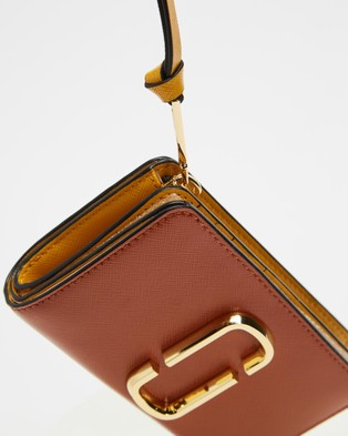 The Marc Jacobs Snapshot Compact Wallet - Wallets (Saddle Brown Multi)