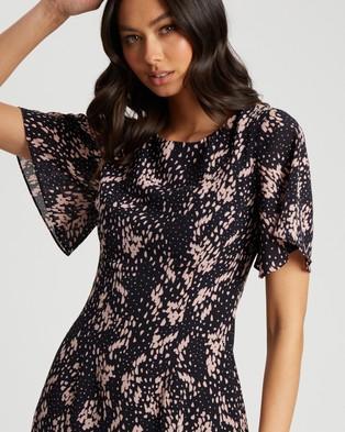 Tussah Vega Mini Dress - Printed Dresses (Raindrop Spot)