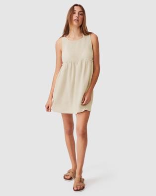 Cotton On Body Drop Armhole Beach Dress - Swimwear (Natural)