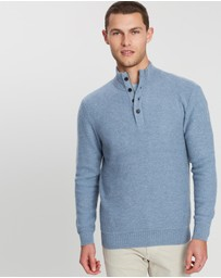 Gieves and Hawkes - Button High Neck Sweater
