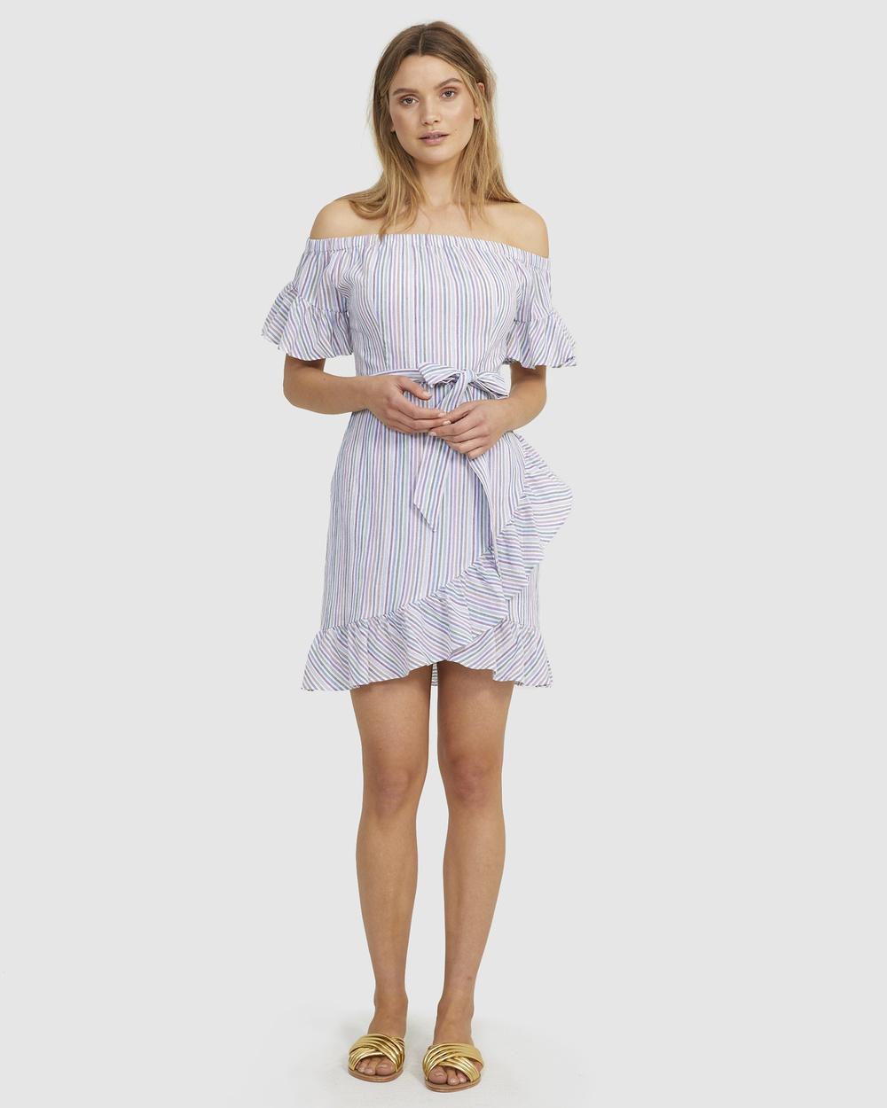 Cooper St Multi Bay Off The Shoulder Mini Dress