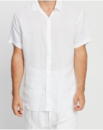 Surrounded By Ghosts - The Diaboliete Snap Button Linen Shirt