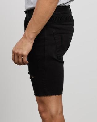 Kiss Chacey Biker Shorts - Denim (Jet Black)