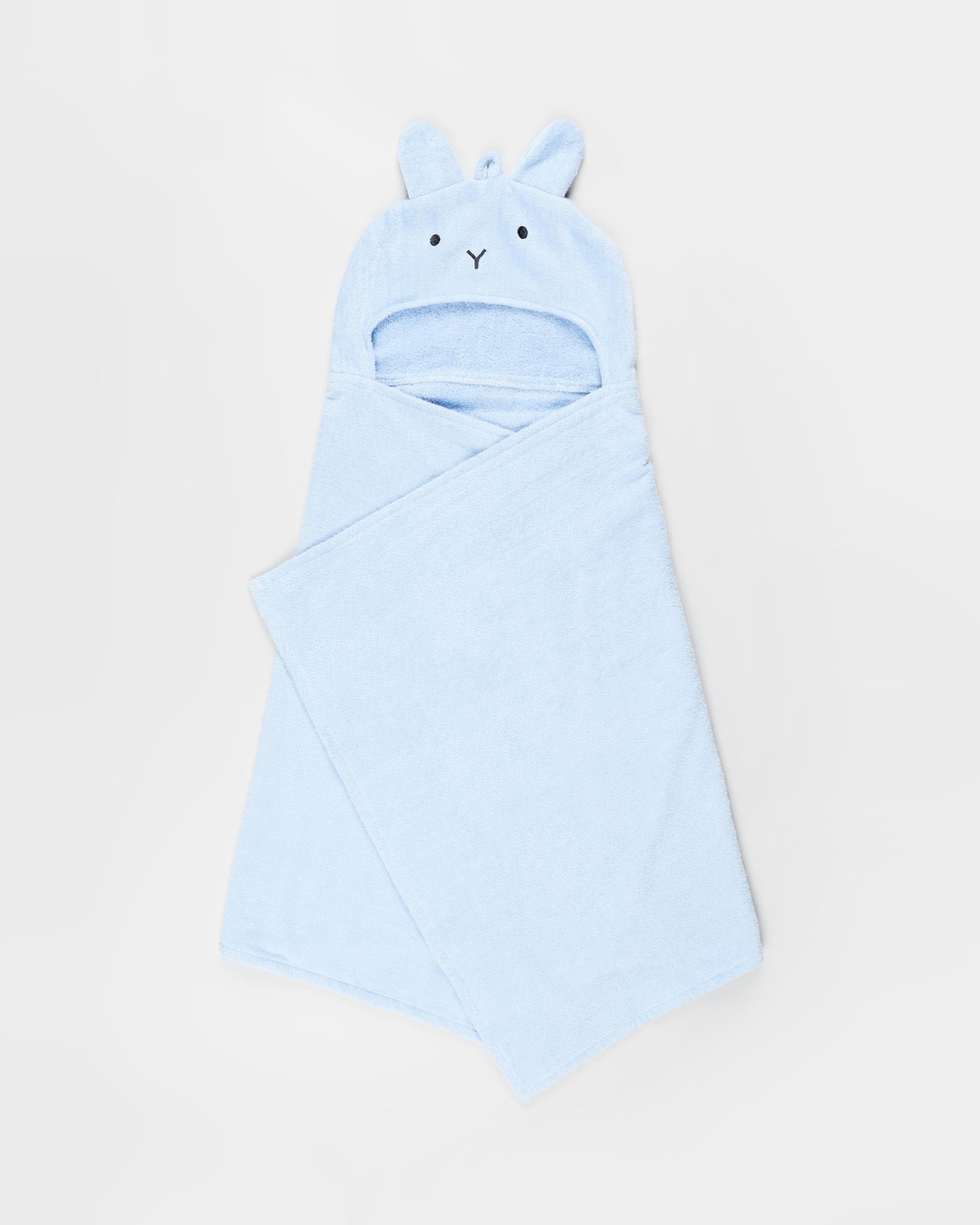 Cotton On Baby Snuggle Towel Babies Towels & Face Washers White Water Blue Bunny