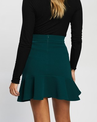 Atmos&Here Jacinta Flared Skirt Skirts Forest Green