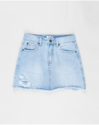 Free by Cotton On - Florence Denim Skirt - Teens