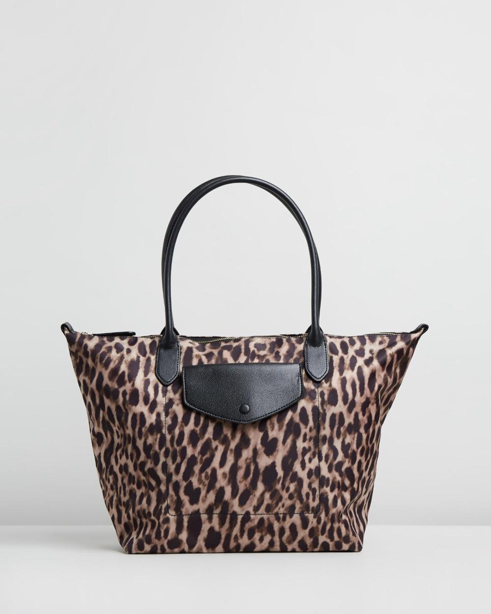 Banana Republic - Nylon Travel Tote - Bags (Leopard) Nylon Travel Tote