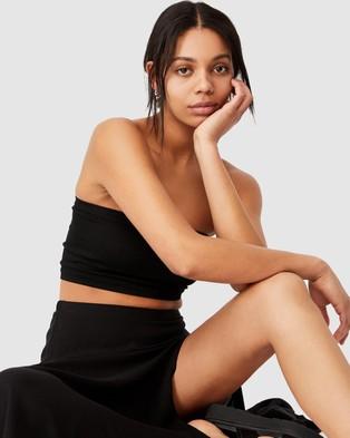 Cotton On Alana Split Maxi Skirt - Skirts (Black)