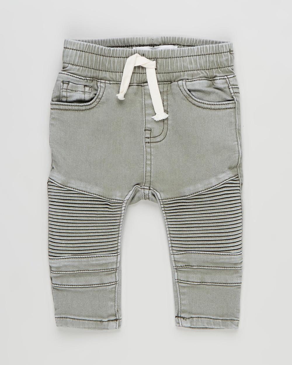 Cotton On Baby Jay Moto Jeans Babies Slim Silver Sage Wash Australia
