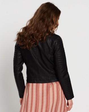 Vero Moda Sandi Faux Leather Jacket - Coats & Jackets (Black)