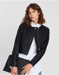 Atmos&Here - ICONIC EXCLUSIVE - Cherish Crop PU Jacket