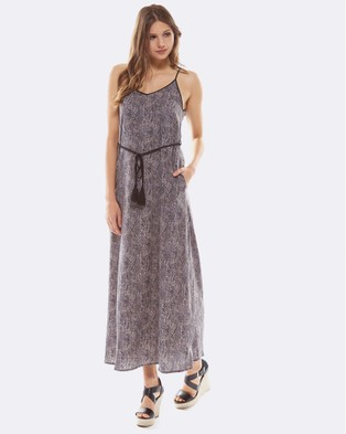Deshabille – Serpent Dress Charcoal Charcoal