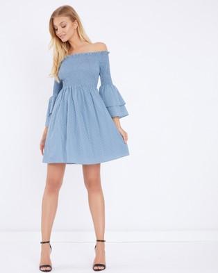 Calli – Sada Layered Sleeve Dress Blue