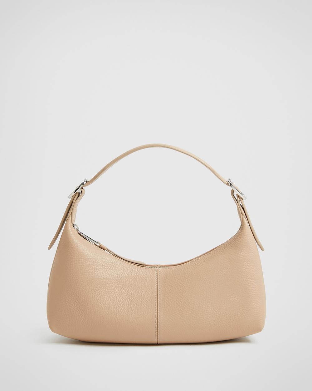 Witchery Zoe Pebble Shoulder Bag Bags neutrals Australia