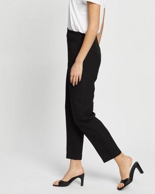 Missguided Button Detail Trousers - Pants (Black )